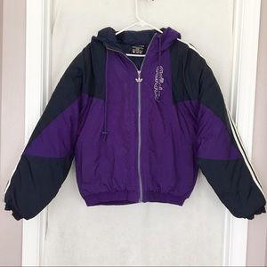 RARE Old School Vintage 90s Adidas Puffer Jacket